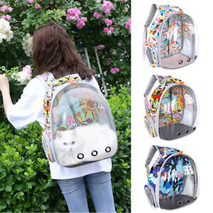 Cat Backpack Carriers Pet Puppy Dog Bubble Capsule Carrier Bag Airline-Approved