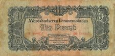 Hungary  10  Pengo  1944  M 5  Russian Army Occup. WWII  Circulated Banknote H3