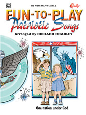 """Fun-to-Play """"Patriotic Songs"""" MUSIC BOOK-BIG NOTE PIANO-BRAND NEW ON SALE!!"""