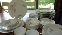Fine China Dinnerware Set Cinnamon Rose by JOHANN HAVILAND Vintage 1950s 42 pcs