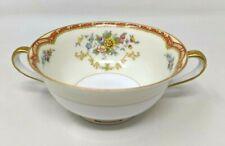 "Noritake China Blakely Japan Porcelain 4 1/2"" Handle Footed Cream Soup Bowl FW20"