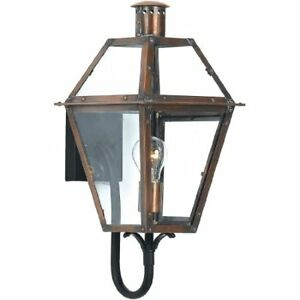 Quoizel RO8410AC 1-Light Rue De Royal Outdoor Lantern in Aged Copper