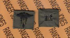 US Army Nurse Corps Branch OD Green & Black sewn patch single
