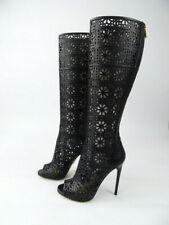 Paul Andrew Yulin Laser Cut Black Knee High Boot Size 36 UK 3 BNWOB