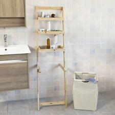 SoBuy® Standing Storage Ladder Shelf with Removable Laundry Basket,FRG160-N, UK
