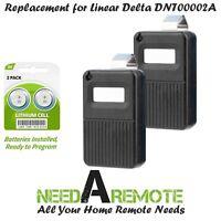 2 For DT Linear Delta Car Visor Remote DNT00002A DTC DTA Gate Garage Door Opener
