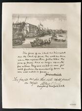 1926 - Lithographie citation Mr Josephus Daniels, Mr Alfred E. Smith.