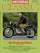 Motorrad Classic 1991 5/91 Ardie BZ 350 Triumph Trident Honda CB350 Four Jawa MZ
