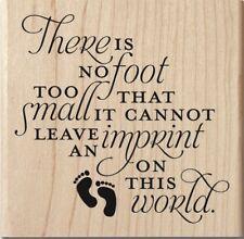 IMPRINT ON THIS WORLD Rubber Stamp PS1053 Hampton Art Brand NEW! baby footprint
