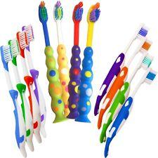 Childrens Toothbrushes ~ Bulk Pack of 12 Kids Manual Brushes ~ Colour Boys Girls