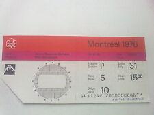 Billet Jeux Olympiques Montréal 31.07.1976 - Wrestling (15:00)
