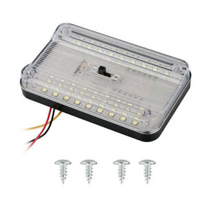 12V 36 LEDs Universal Roof Reading Lamp Ceiling Interior RV Trunk Light w/Switch