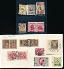 THAILAND SIAM LANGSUEN POSTMARKS 16 stamps