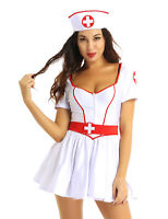 Women's Adults Nurse Doctor Sexy Uniform Costume Halloween Cosplay Outfit Dress
