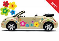 Hippie Blumen Auto Aufkleber Blumenaufkleber Flower Power Set 039 - Matt