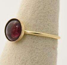 Handmade Vintage 14K Gold Filled Ring Size 7.25 with 8mm Genuine Garnet