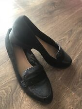 New Ladies Slip On Black Shoes Size 8