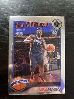 Zion Williamson 2019-20 NBA Hoops Premium Stock Base Tribute RC #296 Pelicans C