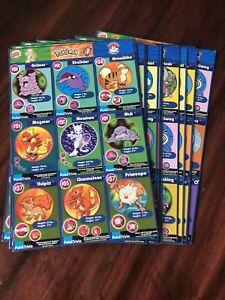 1999 POKEMON Uncut Sheets BURGER KING PROMO Master Trainer 20 Sheet Complete Set