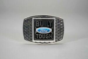 Built Ford Tough Pewter Enamal Belt Buckle Speccast New Licensed