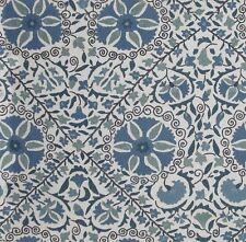Fabric -Schumacher  Madura Floral Stitchery Indigo