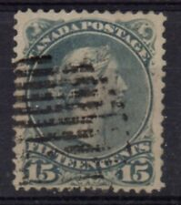 Canada Sc 30 1868 15c gray Large Queen Victoria stamp used