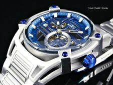 Invicta Men's 52mm Akula Automatic Skeletonized Silver and Blue Bracelet Watch
