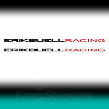 2 ADESIVI ERIKBUELL RACING PVC tuning moto ERIK BUELL decals - stickers 2 colors