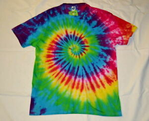 Handmade RAINBOW Spiral Tie Dye Festival T shirt UNISEX S S-5XL custom order
