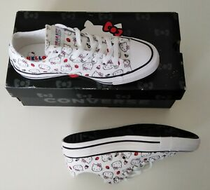 Hello Kitty Converse All Star Trainers - Size 6 UK