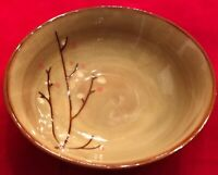 "Sango BLOSSOM BROWN 4764 7 3/4"" Soup Bowls Set of 8 EUC"