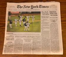 RARE Full The New York Times Derek Jeter Last Game NY Yankees 9/26/2014 Baseball