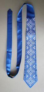 "Ukrainian Embroidered Neck Tie for Men, 57"", Design #20"