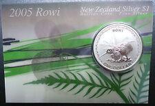 Neuseeland Kiwi - 2005 - Silber $1  Munzen- 1 OZ Rowi Kiwi RAR !!!