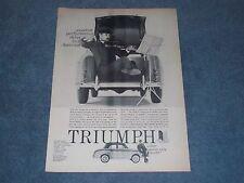 "1958 Triumph 4-Door Sedan Vintage Ad ""Sweetest Performance Value in America"""