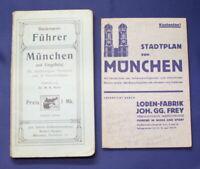Rohe Führer München und Umgebung und Beigabe Stadtplan von München um 1920 js