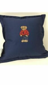 Polo Ralph Lauren Polo Bear Navy Waterfowl Feathers Cushion Pillow NWT