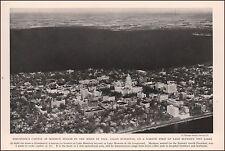 Madison, Wisconsin, city view, vintage print authentic 1937