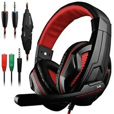 Gaming Headset Mic And Led Light For Laptop Computer Cellphone Ps4 Wired Durable