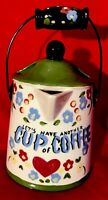 "Wall Pocket Vase California Cleminsons ""Let's Have Another Cup Of COFFEE"" Pot"