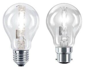 Eveready ECO Halogen Dimmable GLS Bulbs BC ES 33w = 40w / 48w = 60w / 80w = 100w