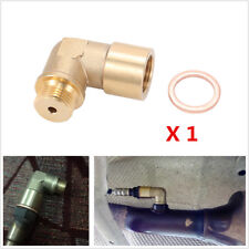 M18 X 1.5 Brass O2 Oxygen Sensor Extender 90 Degree Angled Bung Extension Spacer