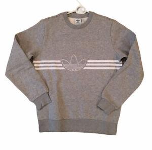 adidas Youth Kids Originals Outline Trefoil Gray Sweatshirt Size Large 10-12