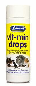 Johnsons Vitmin Multivitamines Supplément Cochon Hamsters Gerbilles Rats Souris