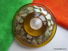 5037 – Wonderful Old Bakelite Button-Bouton with Shell and Galena OME