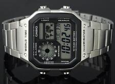 Casio retro MILITARY aviator 3 traveler steel uhr watch orologio MONTRE g shock