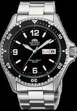 New  Orient Men's Diver Silver Watch Automatic Mako ll Black  Box Warranty