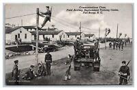 Vintage 1942 WW2 Postcard Communications Class Field Artillery Fort Bragg NC