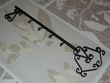 Antique French wrought iron key holder  (4 hooks)