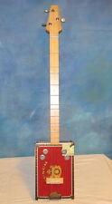 Unique BRUCE HAUN Handmade Wood Punch Cigar Box Guitar 3 String Acoustic J1363